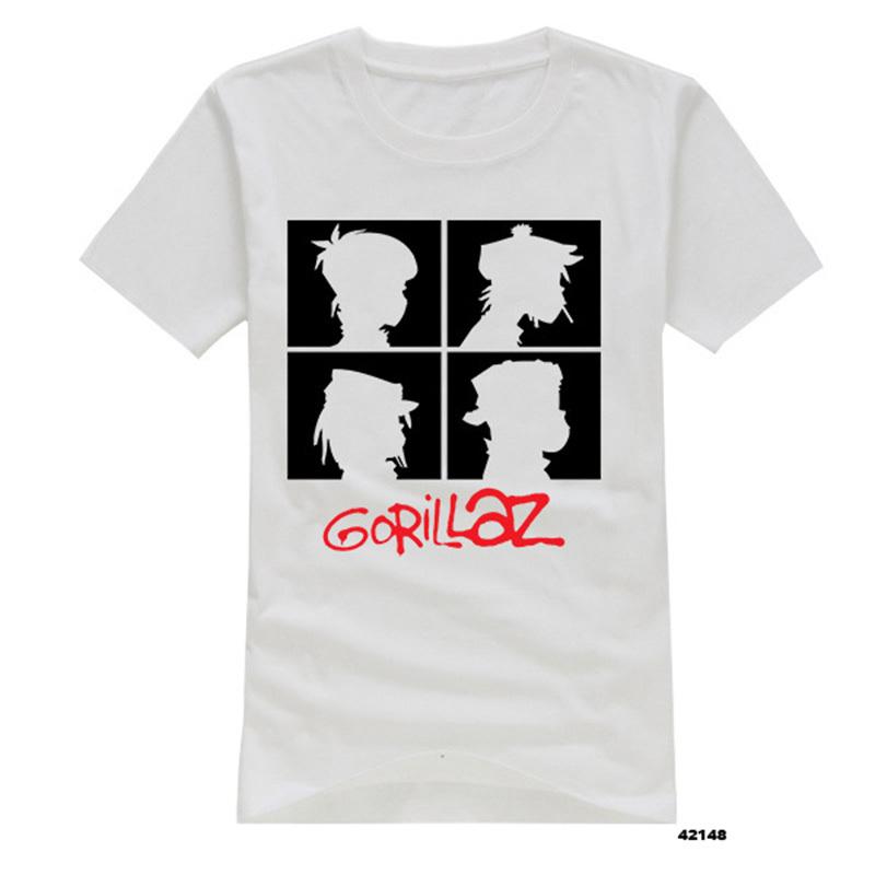 Fashion Gorillaz Men t-shirts Short Sleeve Round Neck Cartoon Man T Shirts Vintage Male Sports Tee Shirts Logo Printed(China (Mainland))