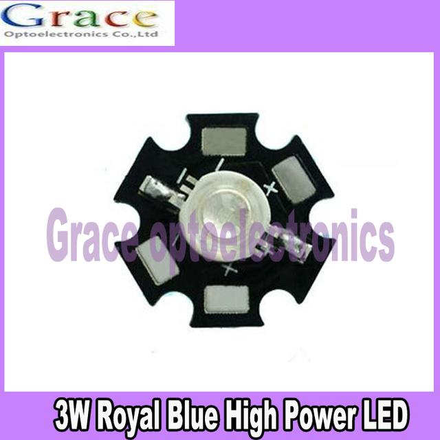 10PCS 3W Royal Blue High Power LED Emitter 700mA 450-455NM with 20mm Star PCB