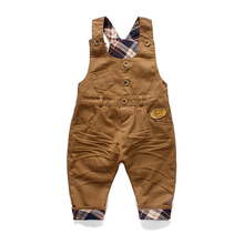 2016 autumn Baby boy bear cotton bib pants unisex overalls fashon clothes infant overall pants children clothing roupas de bebe(China (Mainland))