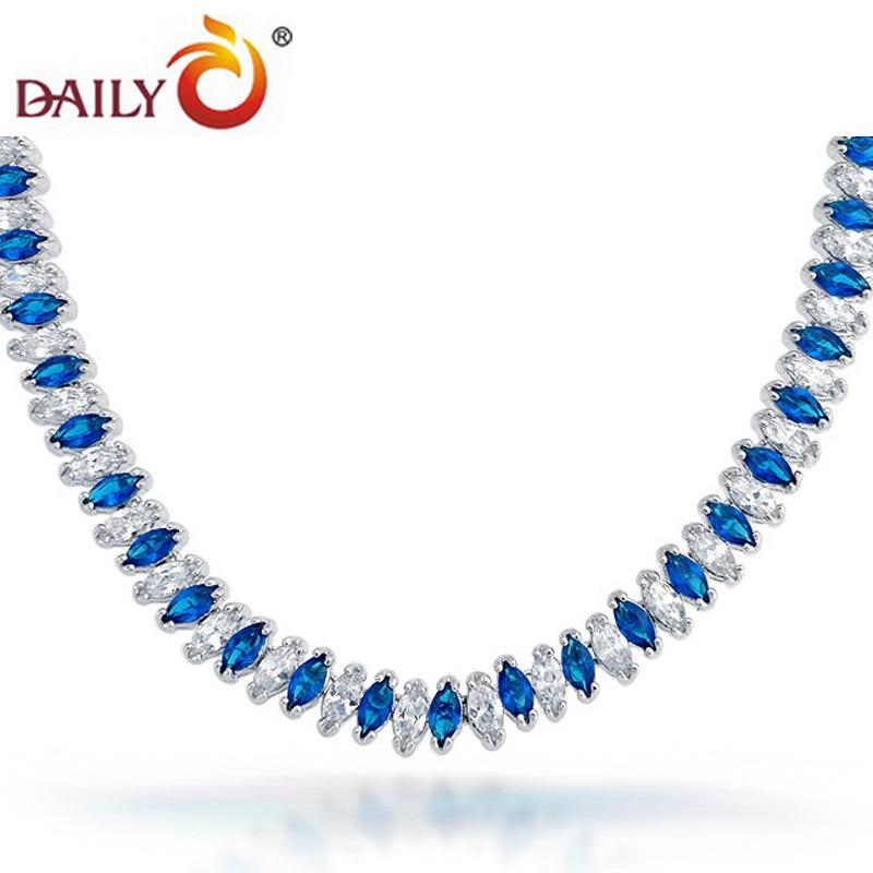 Здесь можно купить  Deep sea horse eye Dai Li Charm Necklace zircon luxury wedding necklace wholesale manufacturers selling women