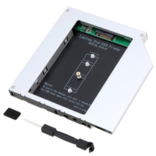 2nd SSD Frame M.2 (NGFF) to SATA Hard Drive Adapter for 12.7mm Universial CD/DVD-ROM Optical Drive Bay for Laptop Computer(China (Mainland))