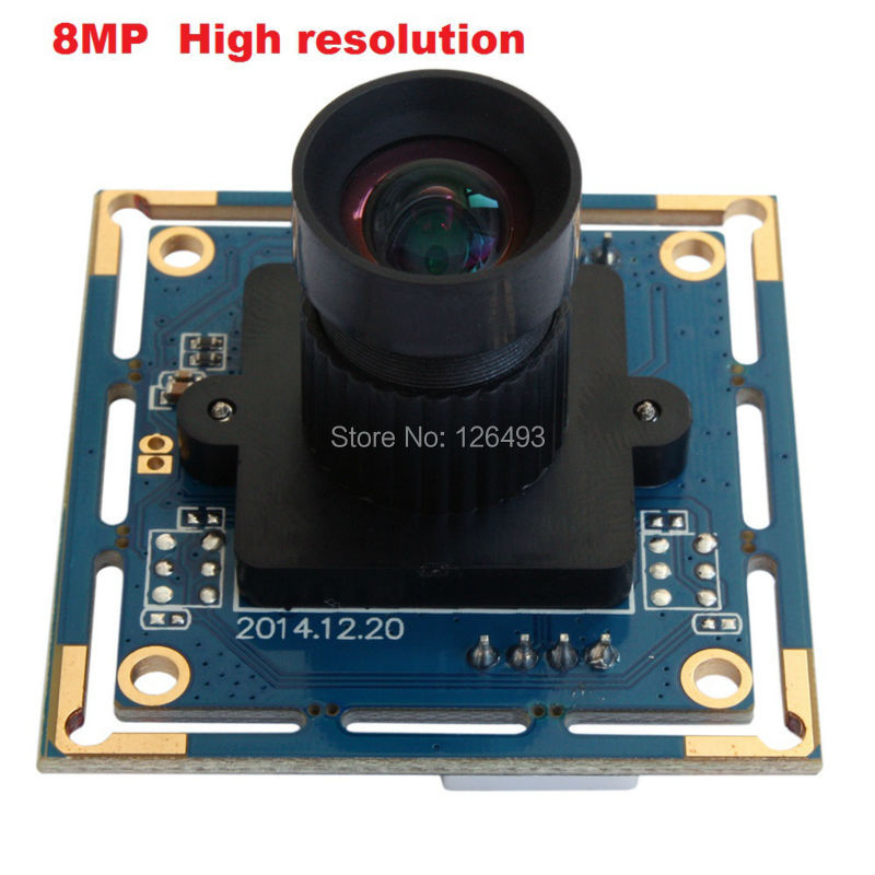 ELP 8 megapixels high resolution Best small sony IMX179 8MP Webcam USB Camera HD with 16mm long focal length lens(China (Mainland))
