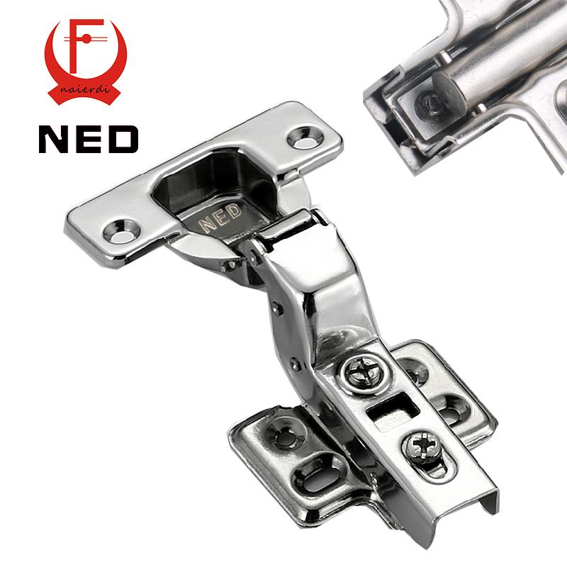 2PCS NED Furniture Hardware 3 Sizes Hinge Rustless Iron Hydraulic Damper Buffer Soft Close Cabinet Cupboard Door Hinges<br><br>Aliexpress
