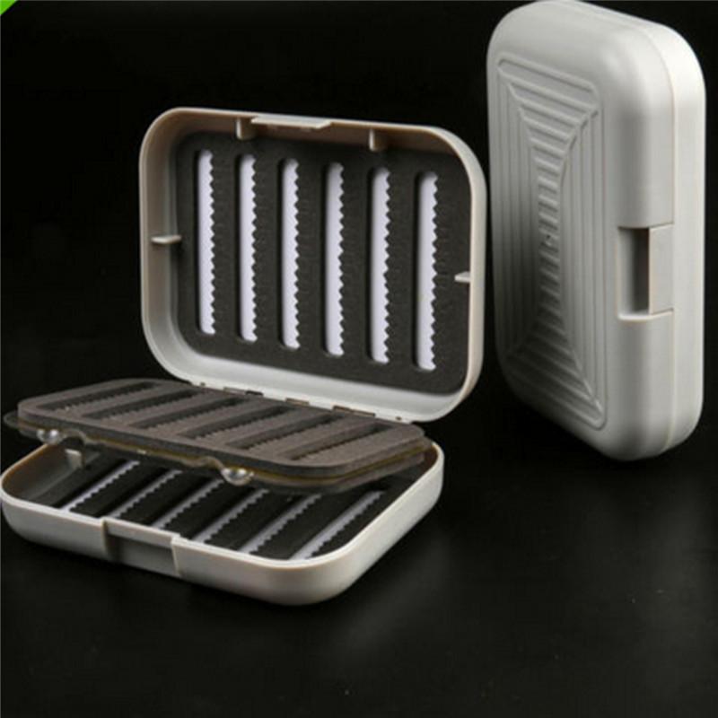 Newest Stylish Double Side Gray ABS Plastic Fly Fishing Lure Bait Hook Storage Case Box Waterproof Slot Two Locks