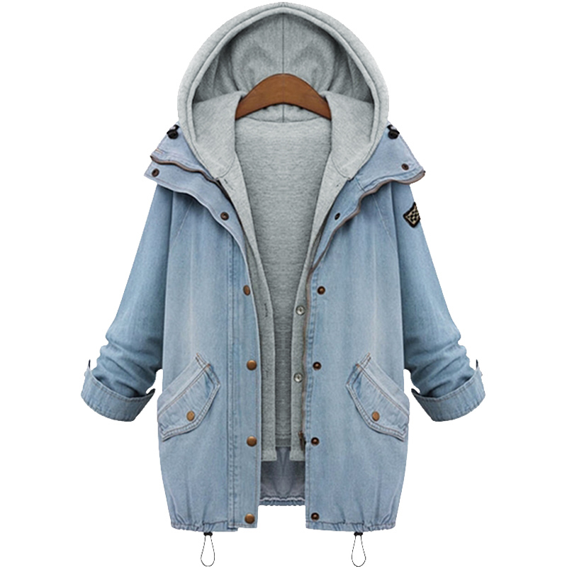 Popular Hooded Jean Jacket Womans-Buy Cheap Hooded Jean Jacket