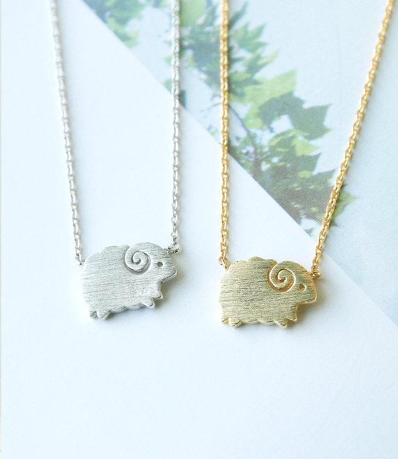 Овец ожерелье лакомство ожерелье животных ожерелье минималистский женщины ювелирные изделия мода на день святого валентина подарок свадебный подарок