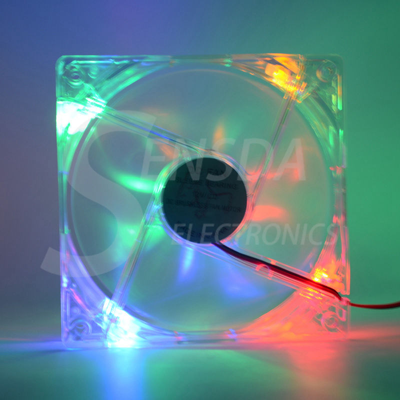 120mm LED multi color 12V 4Pin 120x25mm Computer PC Host CPU Cooling Fan(China (Mainland))