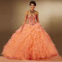 Buy Sweetheart Ball Gown Quinceanera Dresses Girls Red Sweetheart Beaded Prom Dress Gown Vestidos De 15 Anos for $137.95 in AliExpress store
