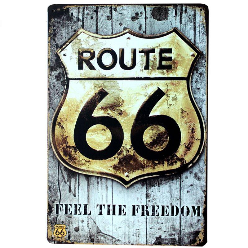Achetez en gros fer d coration en ligne des grossistes for Decoration murale route 66