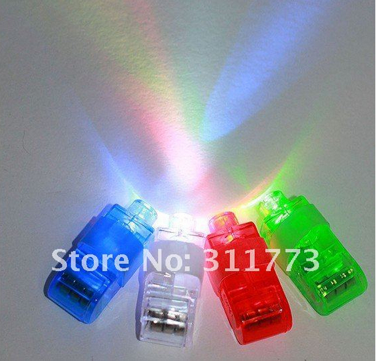 Five Bag LED Laser Finger Gadget Beams Party / Nightclub Glow Light Ring Torch Colors Mix(China (Mainland))