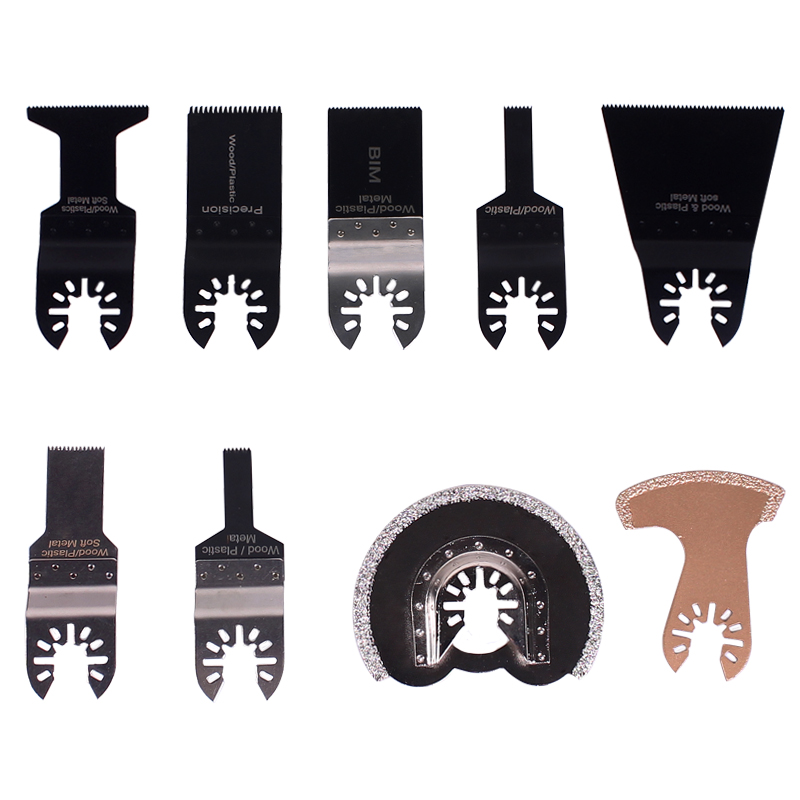 9 pcs/set Oscillating Tool Saw Blades Accessories Fit for Multimaster Power Tools as Fein, Dremel, Bosch etc(China (Mainland))