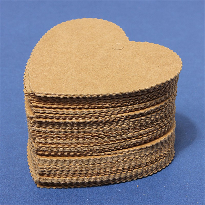 100pcs DIY Kraft Paper Bookmark Card Hang Tags Wedding Party Favor Price Punch Label Gifts Office School Stationery Supplies(China (Mainland))