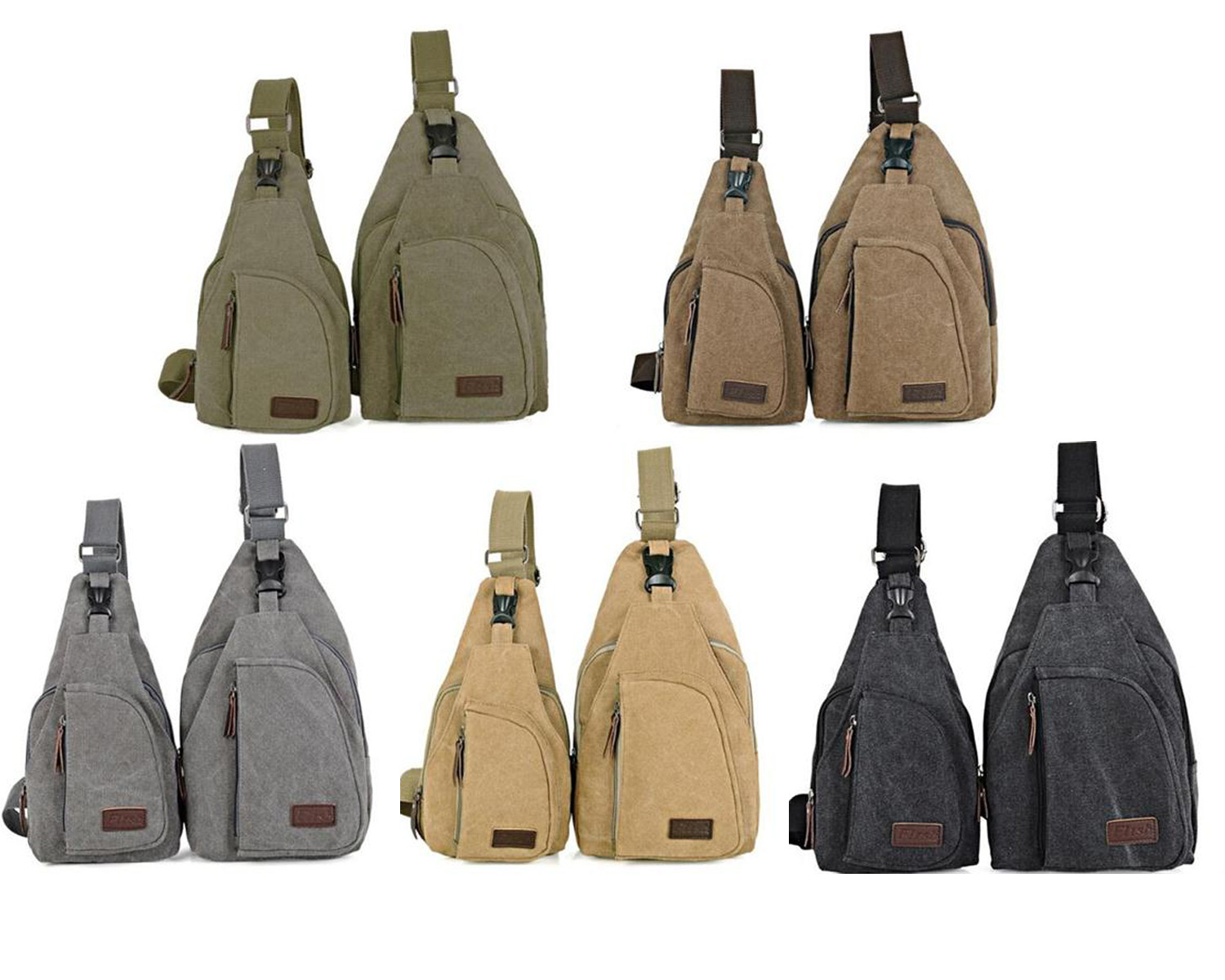 Hot sales Outdoor Sports Travel Camping Hiking Canvas Tactical Chest Bag Fashion Small Mens Messenger - Marry Chen's store