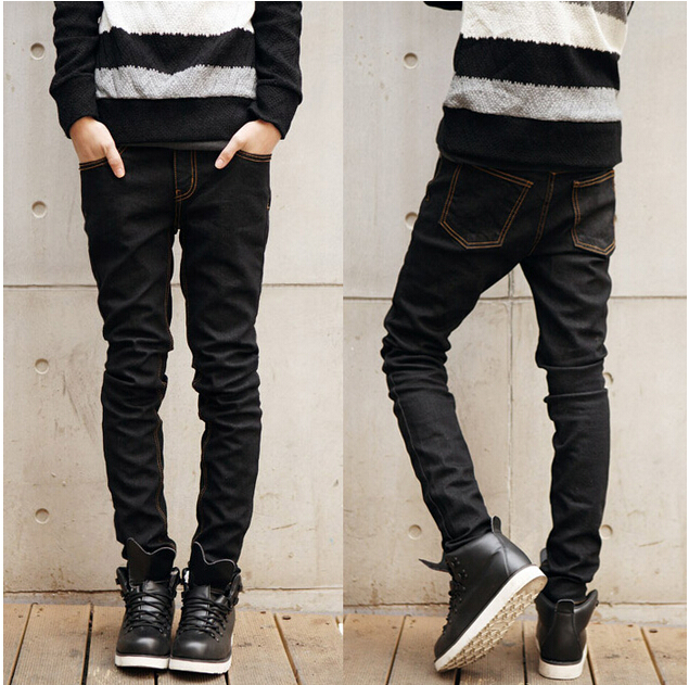 LP19 Free shipping 2016 men's fashion jeans autumn clothes new brand Men's pants thin slim skinny jeans pencil pants male tights(China (Mainland))