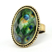 Fashion Jewelry European Style Personalized Fashion Vintage Oval Gem Retro Ring 261015 261019