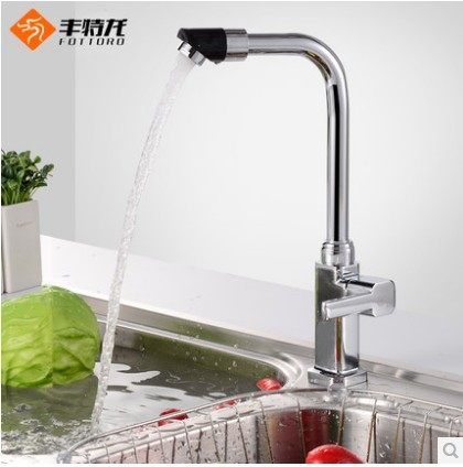 Bathroom single handle single hole Kitchen Basin single cold rotary water tap(China (Mainland))