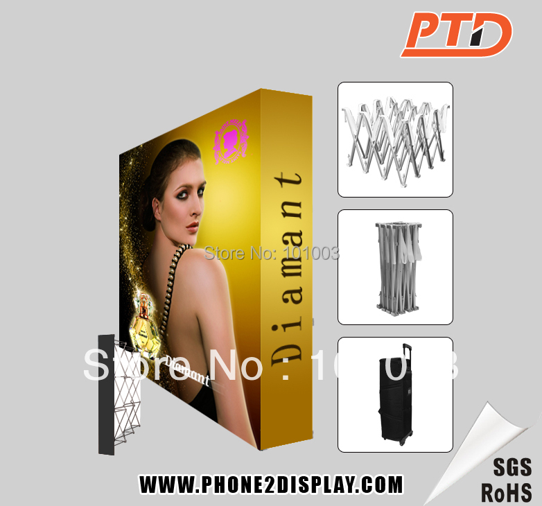 10ft fabric pop up display, trade show display stand, tension fabric printing(China (Mainland))