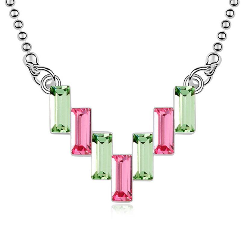 Charm Brand Jewelry  Austrian Crystal Pendants Fashion Chain Necklace For Women Made With Swarovski Elements 8891