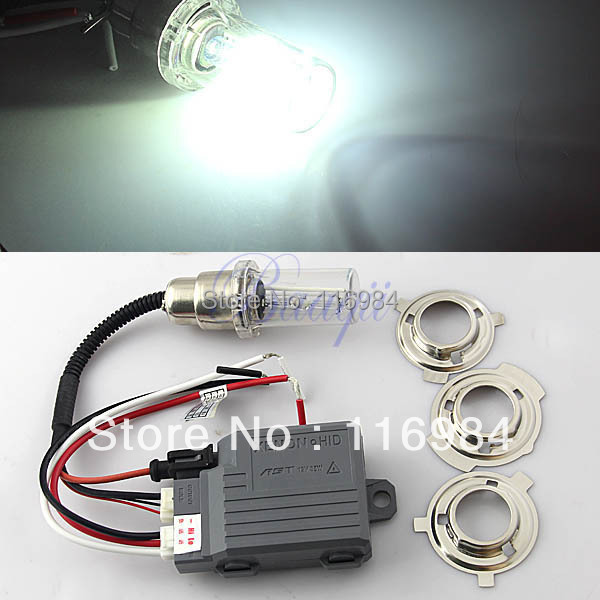 Free Shipping!! H6 H/L HID Lights Kit High intensity Discharge Xenon Bulbs 4300K ~12000k, Motorcycle(China (Mainland))