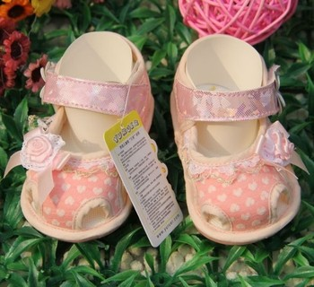 Summer 1365 small heart with flowers baby sandals skidproof toddler shoes