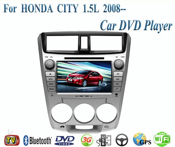 2 Din Car DVD Player Fit HONDA CITY 1.5L 2008 2009 2010 2011 2012 2013 GPS TV 3G Radio WiFi Bluetooth Wheel Control(China (Mainland))