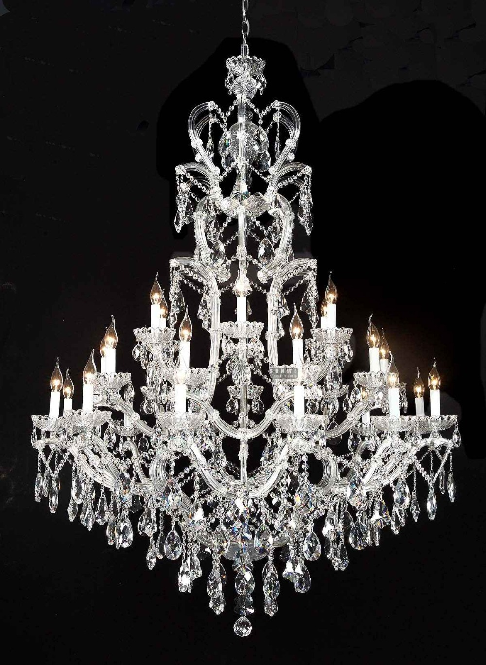 Beautiful crystal chandelier lighting fixture candle Crystal candle chandelier
