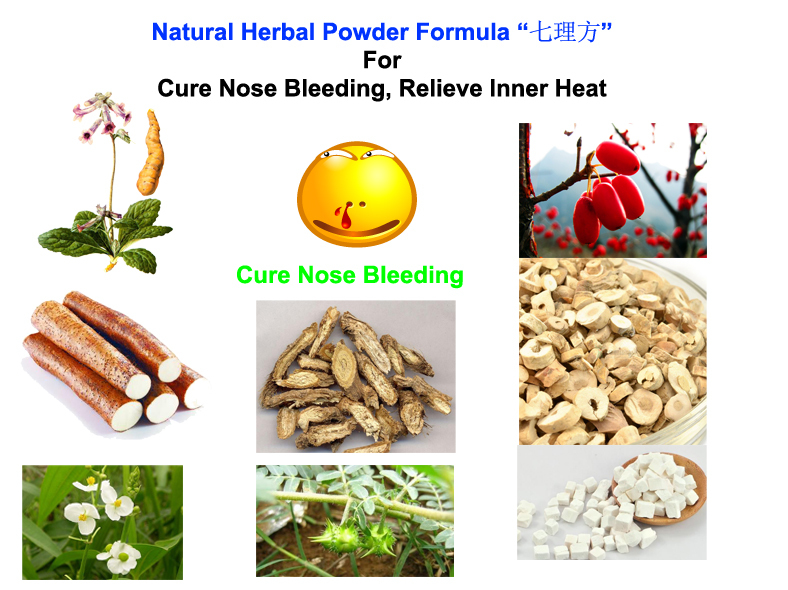 Natural Herbal Powder Formula For Cure Nose Bleeding, Relieve Inner Heat,health care good for body.(China (Mainland))