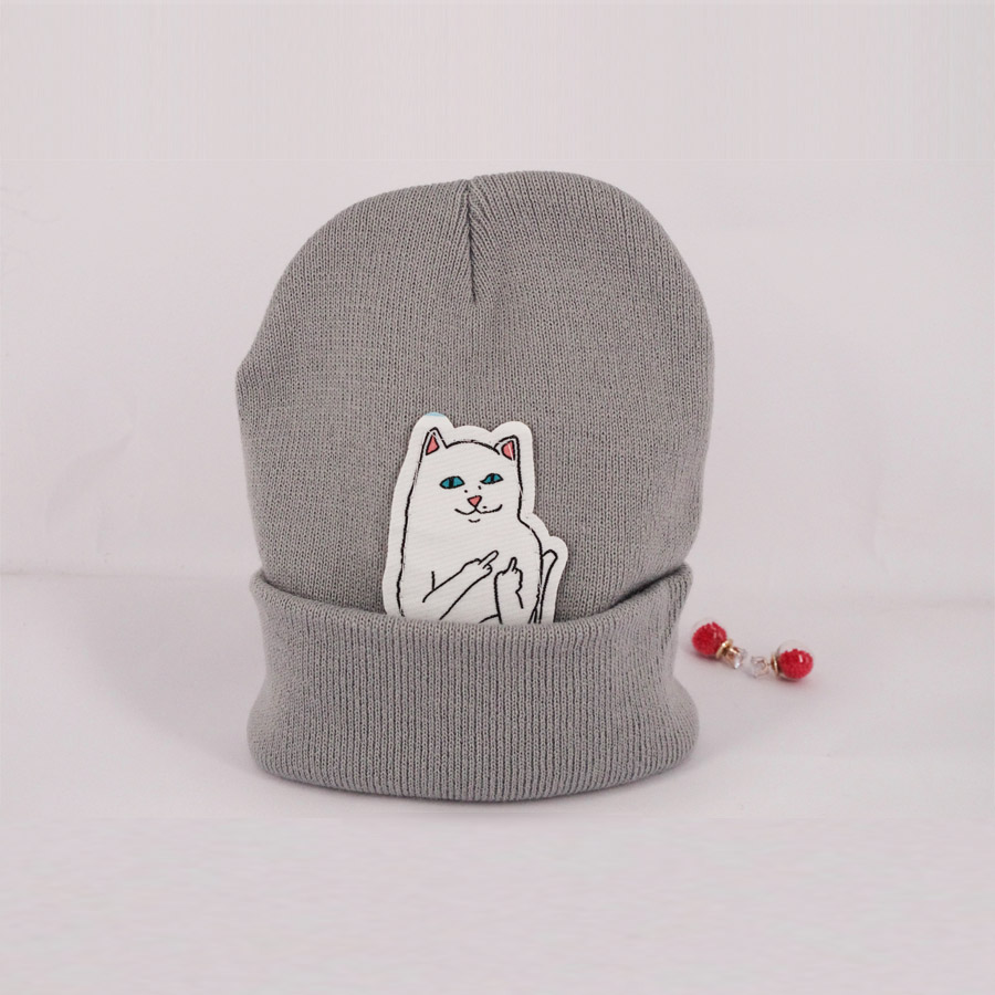 4 color NEW autumn winter spring beanie new style cat wool knit hat hip hop hedging men women(China (Mainland))