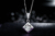 ZOCAI Real Diamond 0.50 CT I-J / SI Certufied Diamond Pendant 18K White Gold with 925 Sterling Silver Chain Necklace