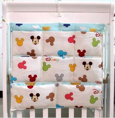 Promotion Kitty Mickey 62 52cm font b Baby b font Bed Hanging Storage Bag Newborn Diaper