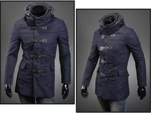 Мужчины ватные ParkasThicken зимний плащ пыли ветер пальто верхняя куртка ветровка зимние пальто топы обертывание сюрко шинель грузов(China (Mainland))