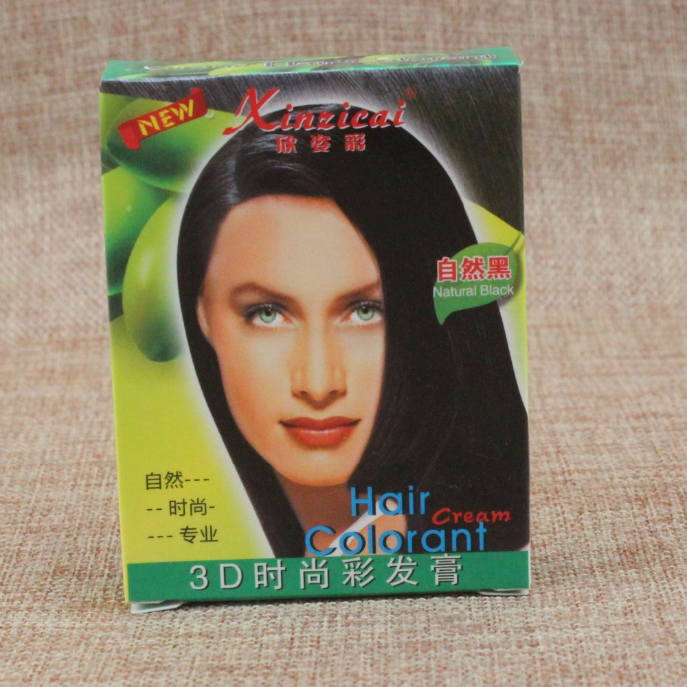 USA natural plant ingredient black colore hair dye with 130ml and with glove(China (Mainland))