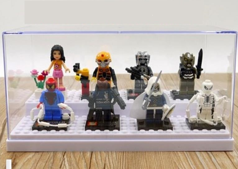 Acrylic Plesiglas Display Box size 20*10*10cm Super Heroes Clone Solider Minifigures Storage box toys fit lego figure - Easter Toys Store store