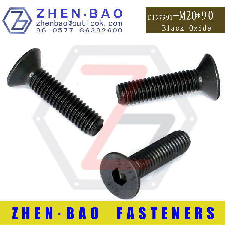 [ M20*90 ] DIN7991 Hexagon socket countersunk head cap screws,Flat head screw Grade 10.9 -( Manufactuer )<br><br>Aliexpress