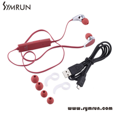 Symrun Earphone Sports Gym Stereo Earbuds Wireless Earphone Sweatproof 2016 Stereo Headset Bluetooth Earphone Mini V4.0