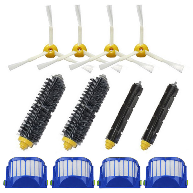 Hepa Filter Bristle Brush 3 Armed Side Brush for iRobot Roomba 600 Vacuum Cleaners for iRobot Roomba 610 620 625 630 650 660(China (Mainland))