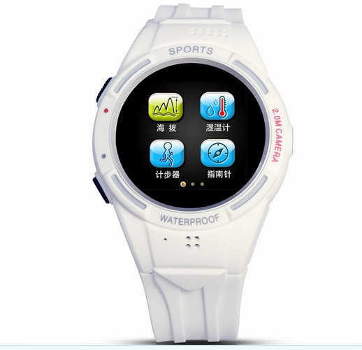 smartphone bluetooth watch tw320d sports watch phone altitude compass 2.0M camera MP3 MP4 FM radio smart watches with sim card(China (Mainland))