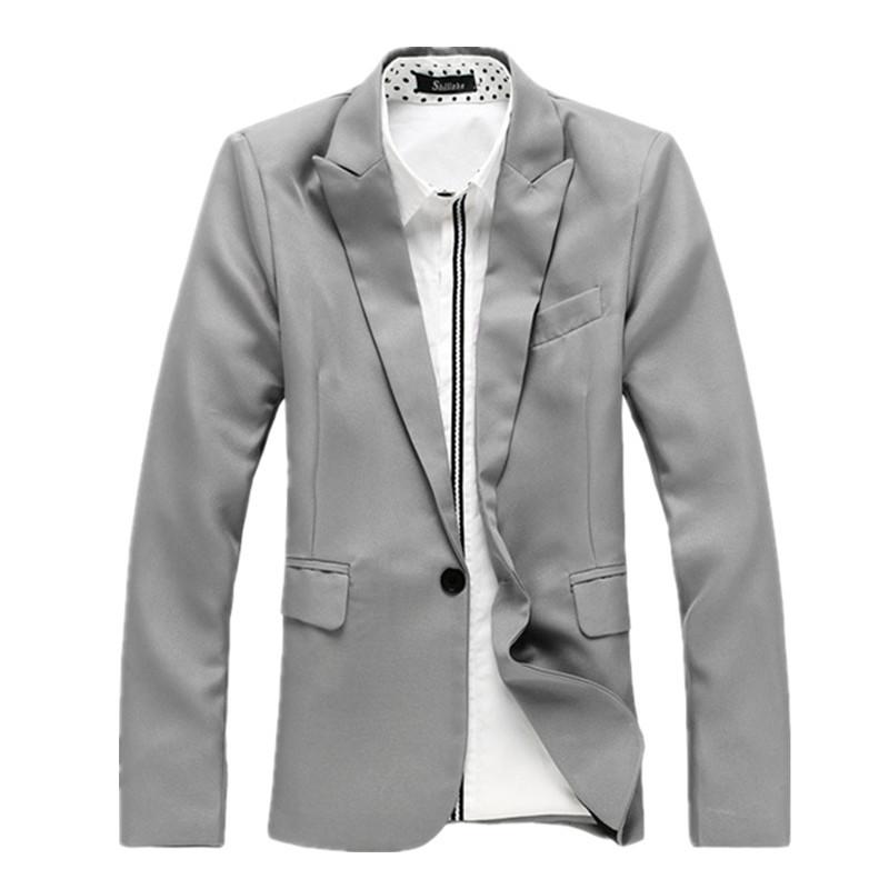 2015 New Arrival Blazer Men Suit Jacket Fashion Blazer Masculino Causal Blazers Men Single Botton Denim Blazers Jacket Men(China (Mainland))