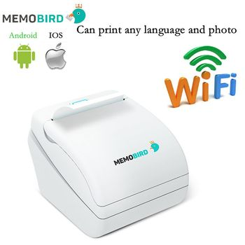 New Memobird Printer WiFi Thermal Printer barcode Printer Wireless Remote Phone Photo Printer any language and photo