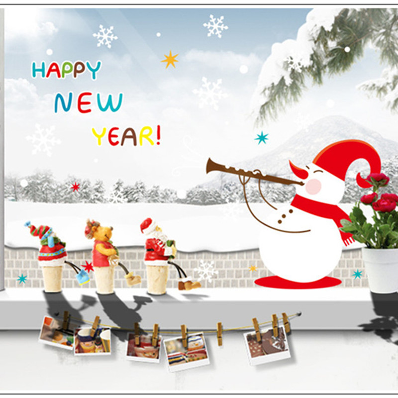 2016 nouvel an bonhomme de neige flocon de neige de no l - Bonhomme de neige decoration exterieure ...
