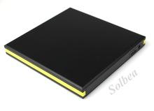 5pc USB 3.0 External Slim Case Enclosure for 12.7mm Height SATA CD/DVD-Rom/DVD RW/Blu-ray Optical drive free shipping freetrack