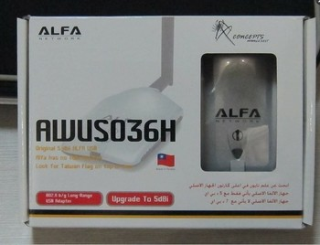 Free shipping! ALFA AWUS036H 1000mW high power wifi wireless usb adapter with 5db antenna