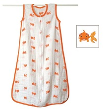 100%  Muslin Cotton Aden Anais  Baby Thin Sleeping Bag  For Summer 83cm Length 120G With Original Double Washing Label KF484(China (Mainland))