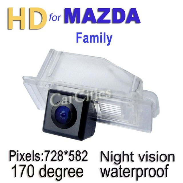 CCD rearview camera170 degree for Mazda Family Waterproof Shockproof Night version Drop Shipping