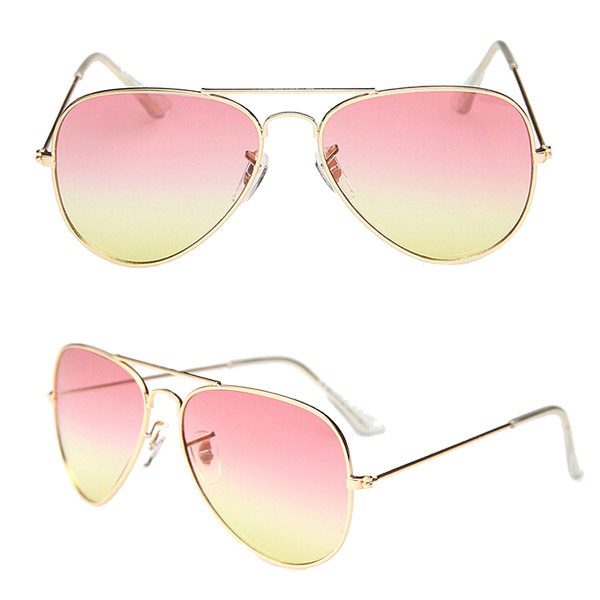 High Quality Brand Designer Women Sunglasses 3025 Aviator Sun glasses Sea gradient shades Men Fashion glasses ss065(China (Mainland))