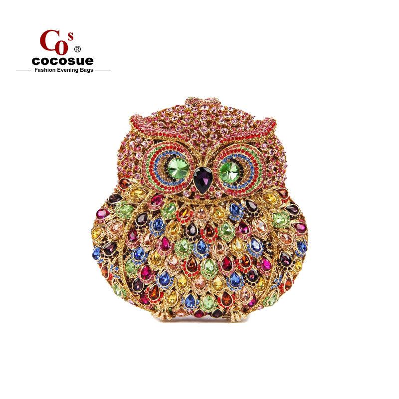 Women Handbag Evening Bags 2015 New Fashion Brand 6 Colors Bag Animal Shape Luxury Crystal Clutch CO0393 - Guangzhou cocosue Co., Ltd. store