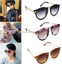 1Pcs 2014 New Sexy Unisex Sunglasses Arrow Style Eyewear Metal Frame Round Sunglasses Free Shipping