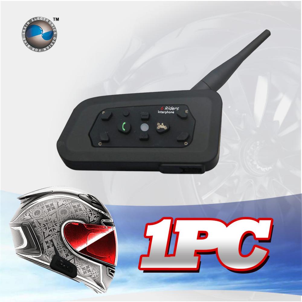Freeshipping 1200M Bluetooth helmet Intercom Motorcycle wireless BT interphone upto 6 Riders headset intercomunicadores de motos(China (Mainland))