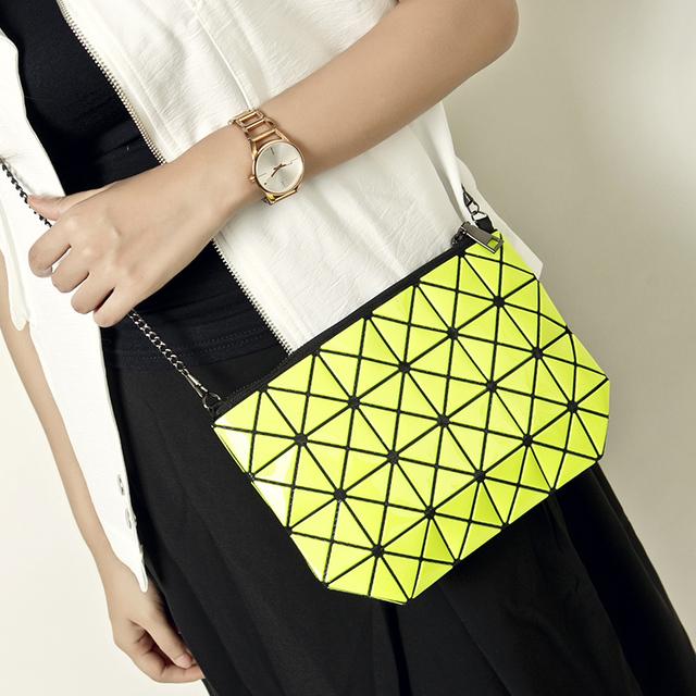Simple и свободного покроя геометрический мозаика mini конверт сцепление мешок дамы сумочка наплечная сумка сумка-мессенджер портмоне бумажник