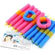 FREE SHIPPING 12pcs/bag HOT Magic Long  Circle Hair Styling Roller Curler  JHB-125(China (Mainland))